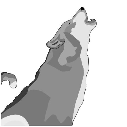 Wolf heulend - Männer Premium Hoodie