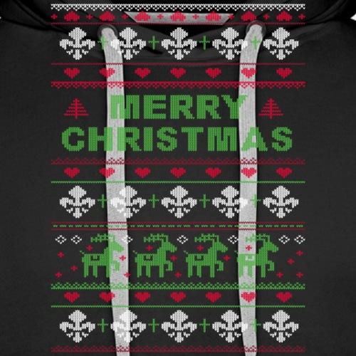 Ugly Sweater Merry Christmas Weihnachtsfarben - Männer Premium Hoodie