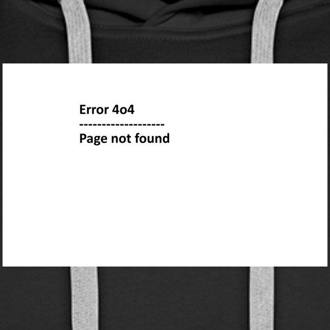 Error 4o4