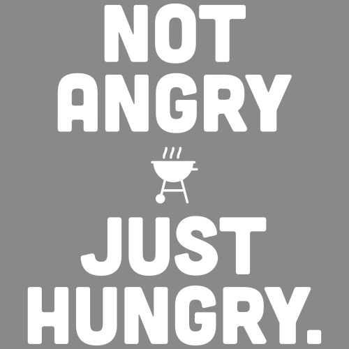 not angry just hungry - Männer Premium Hoodie