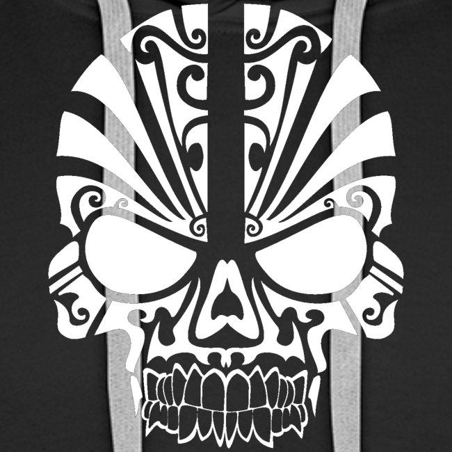 tribal skull white