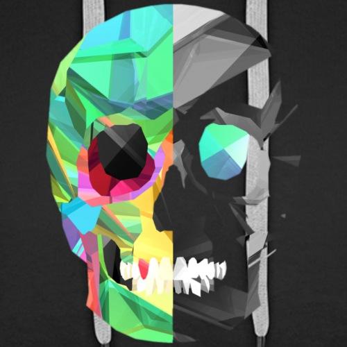 Harte Zeiten - Skull simple - Männer Premium Hoodie