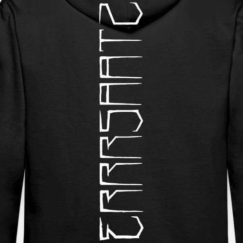 ERRRSAATZ - VertiWhite - Sweat-shirt à capuche Premium pour hommes