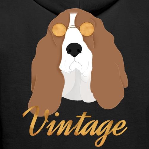 Chien vintage basset hound - Sweat-shirt à capuche Premium pour hommes