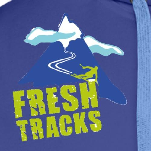 Fresh Tracks Logo Small - Men's Premium Hoodie