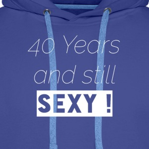 40 years T-Shirt & Hoody - Men's Premium Hoodie