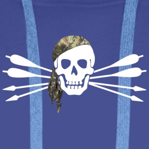 Pirate of archery - Skull and arrows - Men's Premium Hoodie