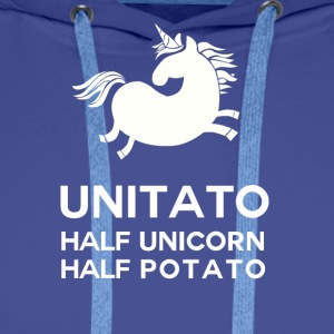Einhorn: Unitato - Half and Half Unicorn potatis - Premiumluvtröja herr