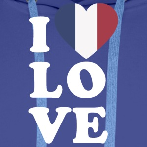 I love france - Men's Premium Hoodie