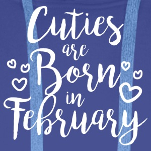 Cuties are born in February - Men's Premium Hoodie