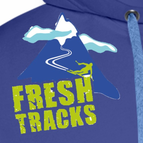 Fresh Tracks Logo Small - Men's Premium Hoodie