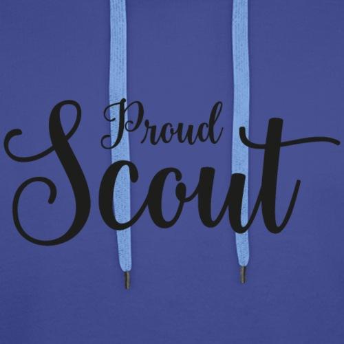 Proud Scout Lettering Black - Männer Premium Hoodie