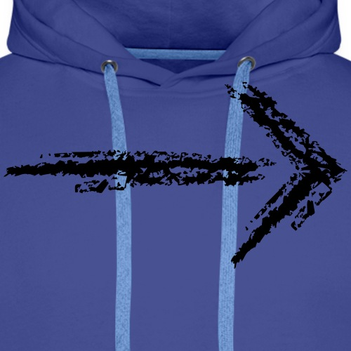 Wegzeichen folgen - Kreidestrich - Farbe wählbar - Männer Premium Hoodie