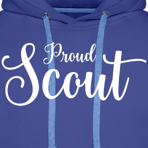 Proud Scout Lettering White - Männer Premium Hoodie