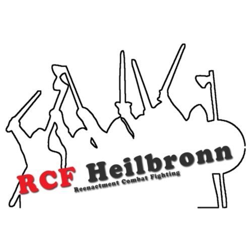 RCF Heilbronn - schwarzes Logo - groß - Männer Premium Hoodie