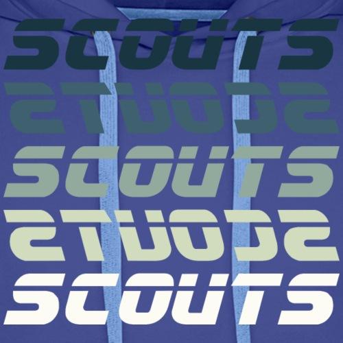 SCOUTS Retro Typo Blaugrün - Männer Premium Hoodie
