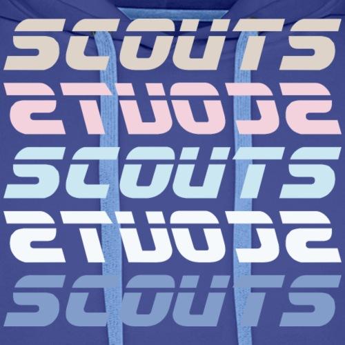 SCOUTS Retro Typo Pastell Mix - Männer Premium Hoodie