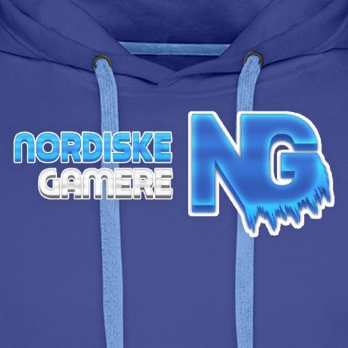 Nordiske Gamere Logo (Hettegenser) - Premium hettegenser for menn
