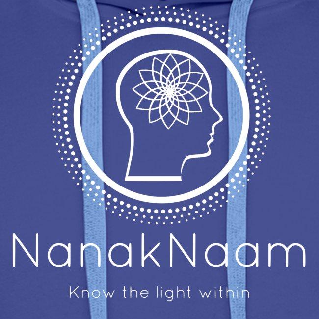 Nanak Naam Logo and Name - White