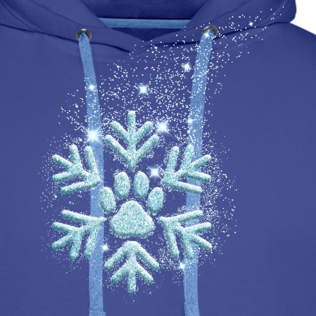 Vorschau: dog paw snowflake - Männer Premium Hoodie