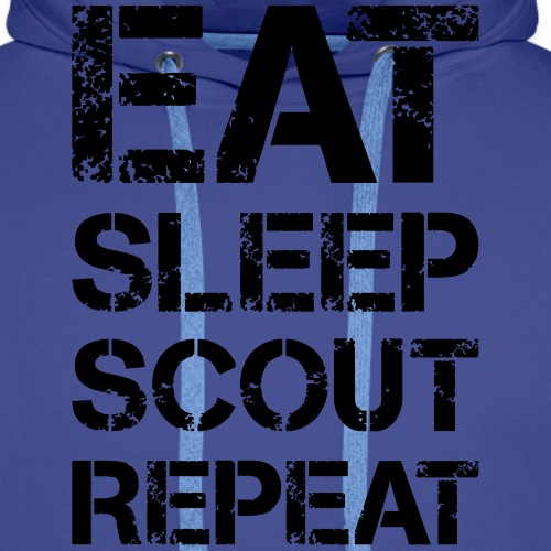 EAT SLEEP SCOUT REPEAT Kreide - Farbe frei wählbar - Männer Premium Hoodie