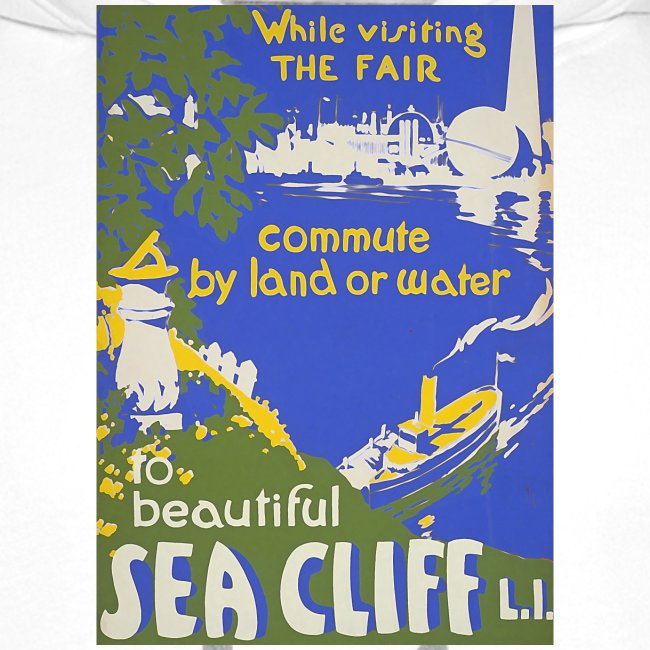 Lake travel vintage poster