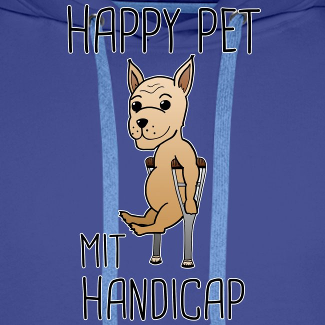 Hund Handicap Haustier Lustige Sprüche Geschenk Männer Premium Hoodie
