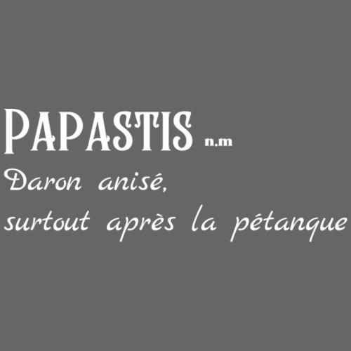 Papastis Daron anisé surtout après la pétanque - Sweat-shirt à capuche Premium pour hommes