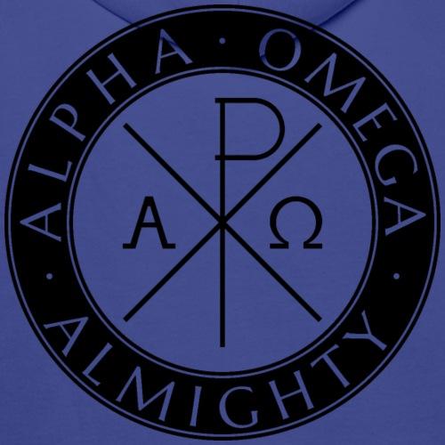 Alpha Omega Almighty Black - Männer Premium Hoodie