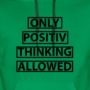 positive thinking - Men's Premium Hoodie