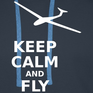 Keep calm and fly - Men's Premium Hoodie