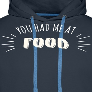I love to eat - Men's Premium Hoodie
