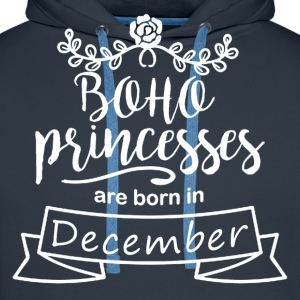 Boho Princesses are born in December - Men's Premium Hoodie