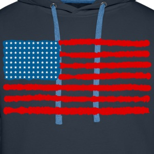 The Red, White and Blue - Men's Premium Hoodie