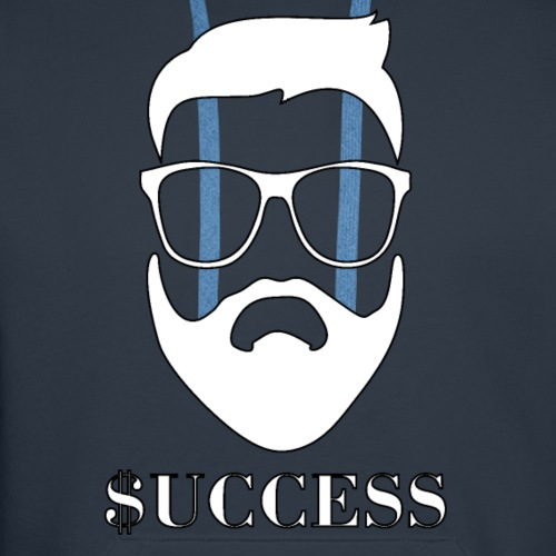 Success Beard Glasses Hipster Beard Mens Shirts - Men's Premium Hoodie
