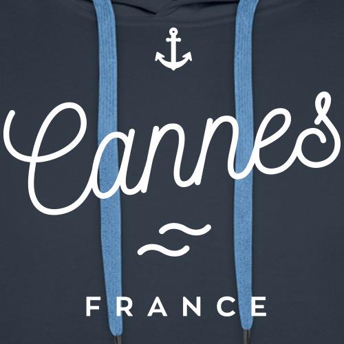 Cannes - France - Sweat-shirt à capuche Premium pour hommes
