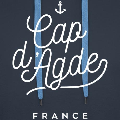Cap d'Agde - France - Sweat-shirt à capuche Premium pour hommes