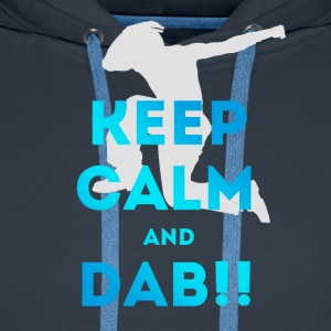 keep calm and dab dance arm above - Men's Premium Hoodie