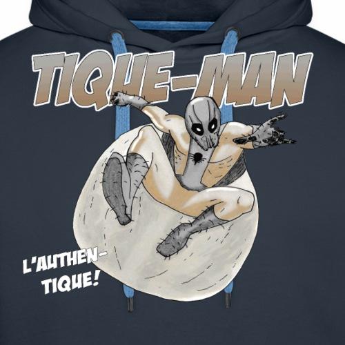 TIQUE MAN - Sweat-shirt à capuche Premium pour hommes