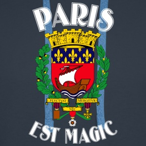 Paris Er Magic Blue - Premium hettegenser for menn