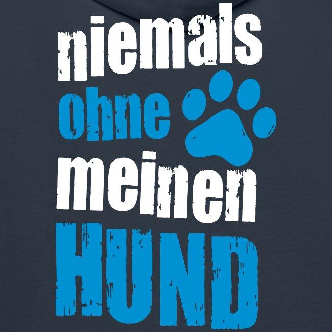 Vorschau: niemals ohne meinen hund - Männer Premium Hoodie