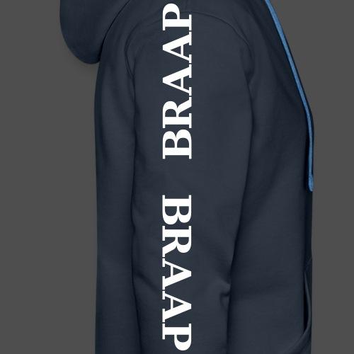 braap braap 0BR04 W - Bluza męska Premium z kapturem