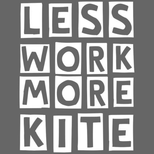 Front Less Work More Kite | Back Original - Felpa con cappuccio premium da uomo
