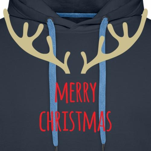 Merry Christmas - Felpa con cappuccio premium da uomo