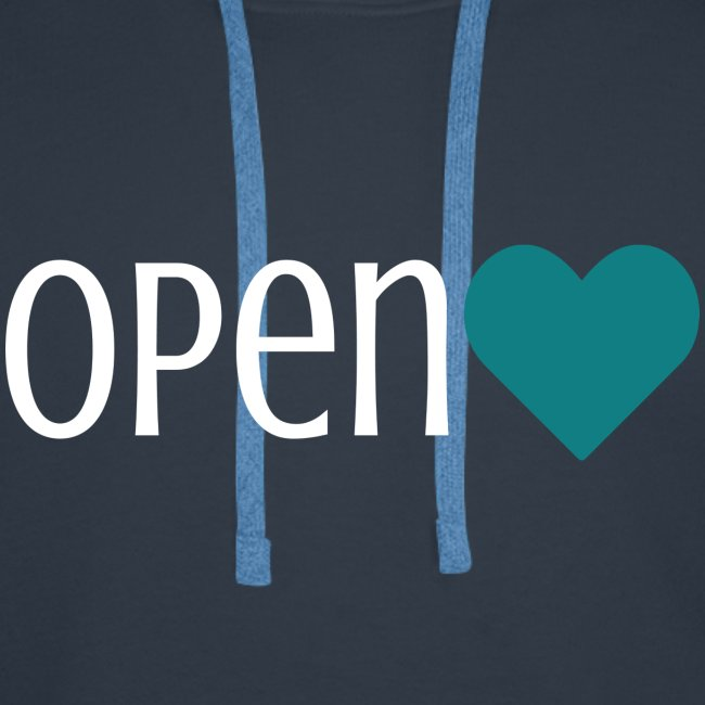 OPEN Heart, weiße Schrift