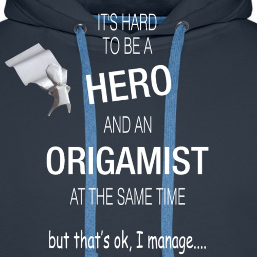 It's hard to be a hero and an origamist