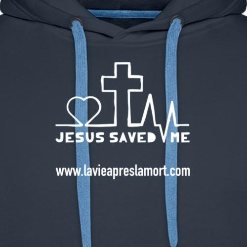 Jesus saved me - Sweat-shirt à capuche Premium pour hommes