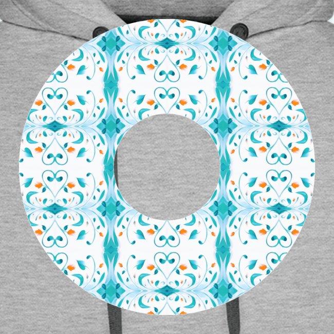Hippie flowers donut