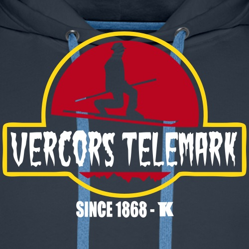 Telemark en Vercors - Sweat-shirt à capuche Premium pour hommes