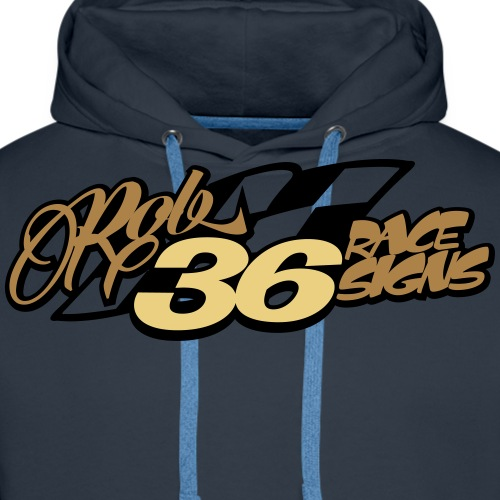 Rob36 Race Signs 2 - Men's Premium Hoodie